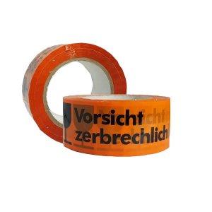 چسب نواری چاپدار ۹۰ یارد آلمانی علامت شکستنی