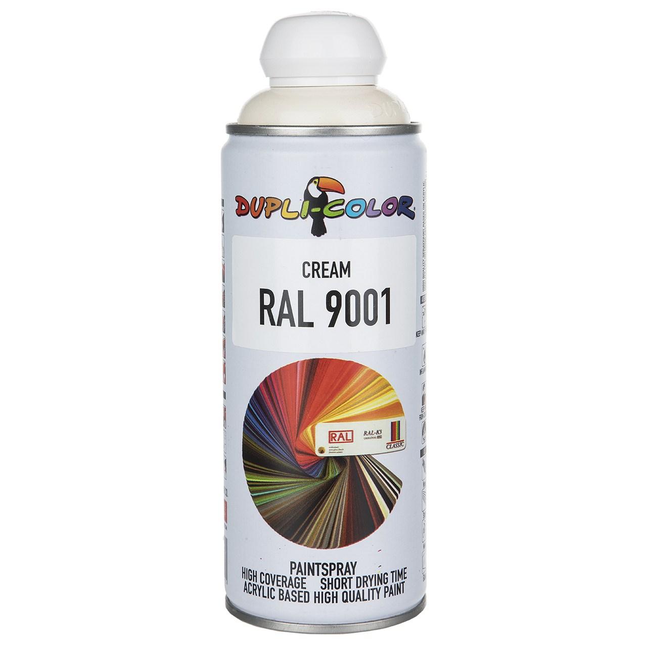 اسپری رنگ کرم دوپلی کالر مدل RAL 9001 حجم ۴۰۰ میلی لیتر