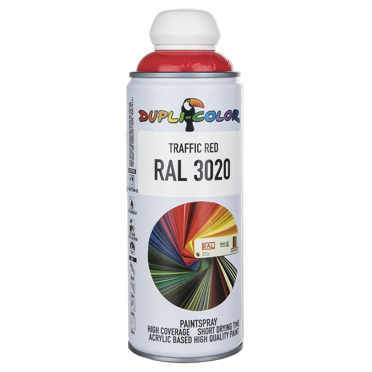 اسپری رنگ قرمز دوپلی کالر مدل RAL 3020 حجم ۴۰۰ میلی لیتر