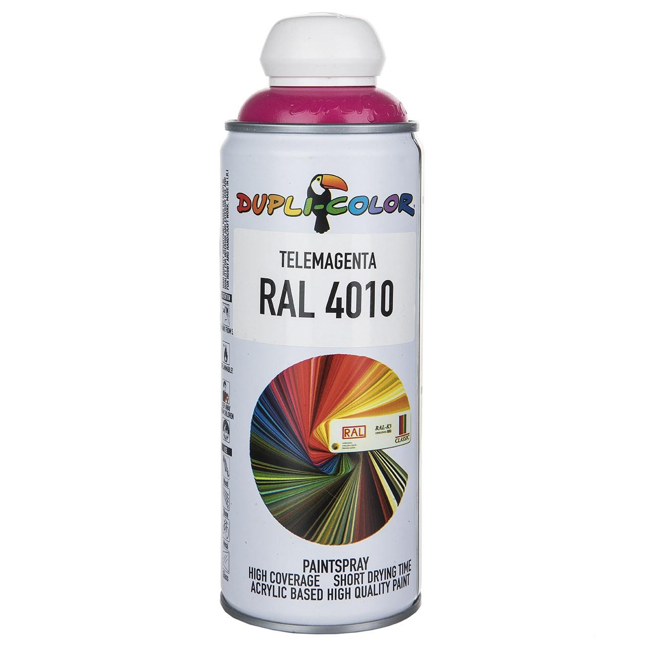 اسپری رنگ سرخابی دوپلی کالر مدل RAL 4010 حجم ۴۰۰ میلی لیتر