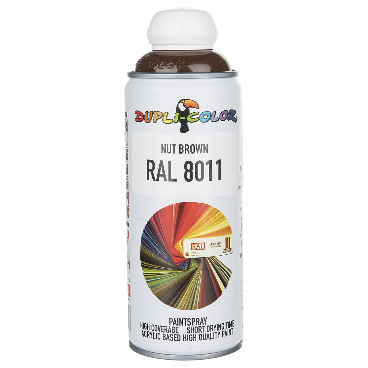 اسپری رنگ قهوه ای دوپلی کالر مدل RAL 8011 حجم ۴۰۰ میلی لیتر